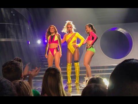 Missy Elliott dance break - Britney Spears - 'Piece of Me' Vegas Jan 2017 (Pit view)