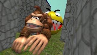 Pacman vs Donkey Kong Super Mario Sonic