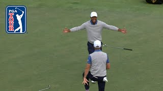 Justin Thomas's dramatic putt to win Foursomes match at Presidents Cup 2019