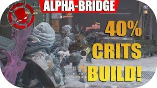 The Division 1.5 (ALPHABRIDGE) 40% Crit Chance AR God Build! - Solo PVP (400K DPS) Melter Set.