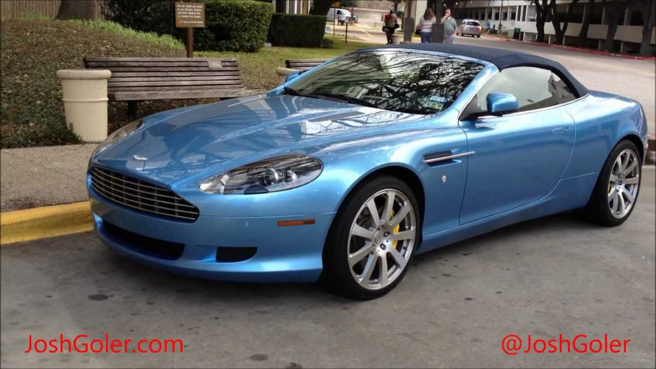 Blue Aston Martin DB9 Convertible on HRE Wheels - YouTube