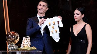 Cristiano Ronaldo and Georgina Rodriguez in Ballon D'or 2017 | Unexpected Gift
