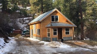 Mountain Dream Home — Mudroom gets Siding and a Floor — we're so excited!