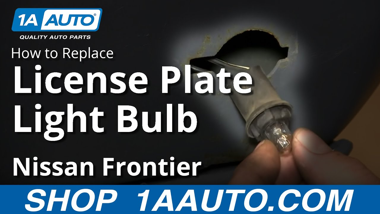 How To Install Replace Change License Plate Light And Bulb