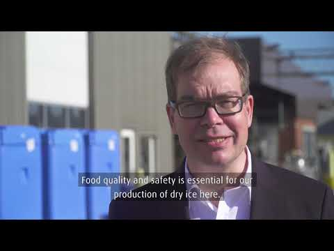 Dry ice factory inauguration in Denmark