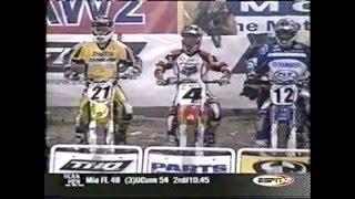 2003 Anaheim 1 250cc Main (Chad Reed's 1st 250cc AMA SX Victory)