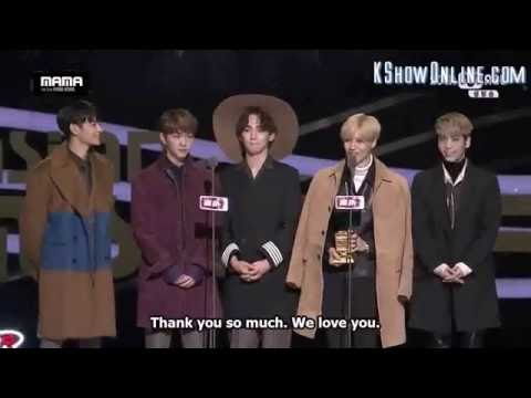 EngSub Shinee winning award at MAMA2015