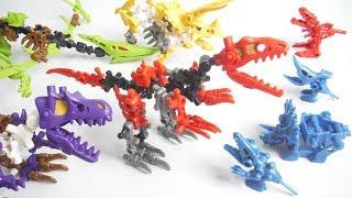 ほねほねザウルス ブロックス 2018 全4種 開封 組立 Dinosaur Figure 食玩 Japanese candy toys