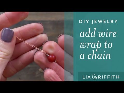 How To Make Wire Jewelry: Attaching a chain to a wire wrap