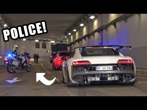 Supercars Go CRAZY in a Tunnel!! – Police, Launches, Burnouts & Accelerations!