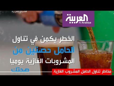 مخاطر تناول الحامل المشروب الغازية