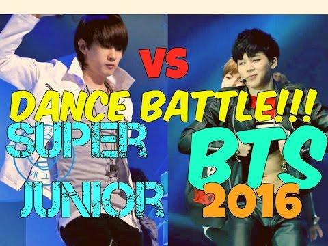 Super Junior vs BTS Dance Battle!!! 2016 / Batalla de Baile!!!