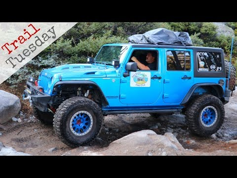 Supercharged Jeep on the Rubicon Trail
