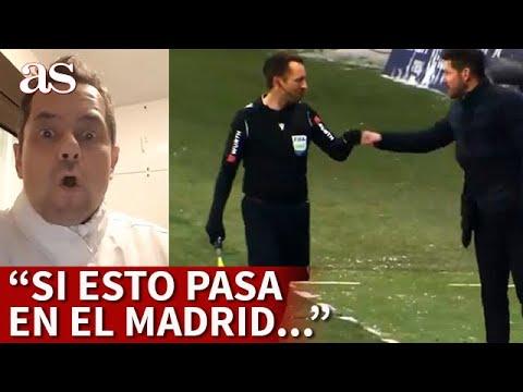 Roncero y el «puñito» de Simeone al línier tras el gol de Correa | Diario AS