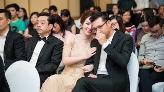 Đan Lê tình tứ bên chồng tại buổi họp báo phim Người Phán xử