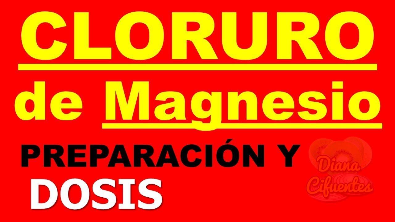 cantidad diaria recomendada de cloruro de magnesio