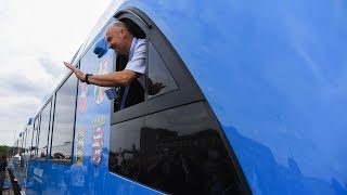 Watch: Germany rolls out world's first hydrogen train..