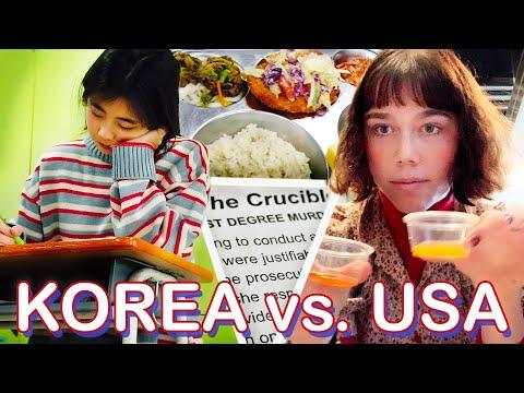 A Day In High School: South Korea Vs. USA