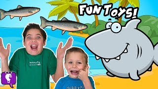 Summer Surprise Toys with a Toy Shark by HobbyKidsTV