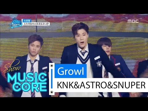 [Special stage] KNK&SNUPER&ASTRO - Growl, 스누퍼&아스트로&크나큰-으르렁 Show Music core 20160416