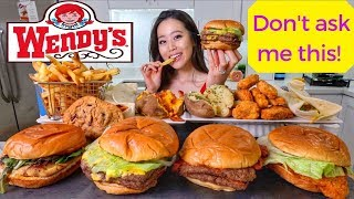 HUGE WENDY'S MUKBANG (First Time Trying) | Eating Show