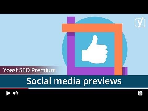 Yoast SEO premium: social previews