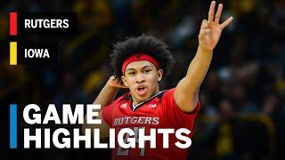 Highlights: Ron Harper Jr. Drops Season-High 27 Points for Win   Rutgers vs. Iowa   March 2, 2019