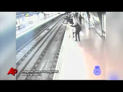 Man Rescued on Madrid Railway Tracks