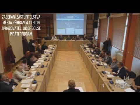 Zasedání zastupitelstva města Příbram 4.11.2019