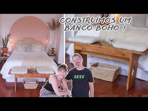 """DIY Construí um Banco """"Peseira"""" Boho com meu Pai! – Decorando meu quarto 07"""