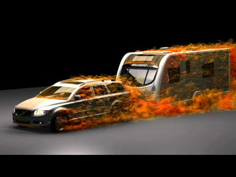 TotalSim | CFD simulation of a car and caravan using DES | CFD Simulation by TotalSim