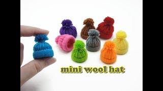 DIY Doll Accessories Mini Wool Hat - Easy