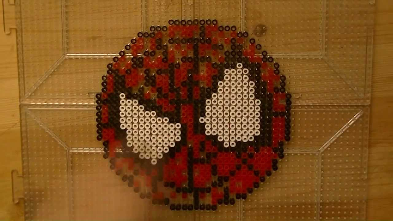 Hama Beads Spiderman: PERLER BEAD: Spider-Man! (Giveaway #51) Tutorial & How To