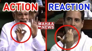 Watch: PM Modi Fun Gesture In Lok Sabha Over Winking Issue..