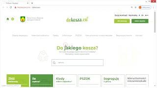 Prezentujemy Państwu naszą nową stronę internetową dotyczącą gospodarki odpadami - www.dokosza.eu