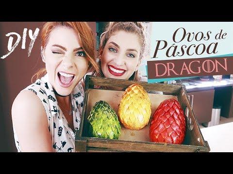 DIY ♥ Ovos de Páscoa Game Of Thrones – Ovos de Dragão   Maddu Magalhães ft. Carol Moreira