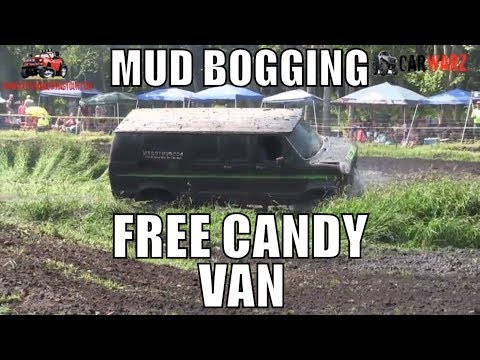 FREE CANDY VAN Tears It Up At Perkins Summer Sling Mud Bog 2018