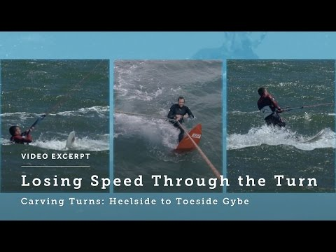 Carving Turns: Heelside to Toeside Gybe - Kitesurfing Technique & Tips