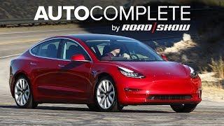 AutoComplete: Tesla's midrange Model 3 is cheaper, but not $35k