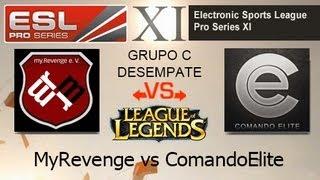 LoL: myR e.V vs Comando Elite - EPS XI