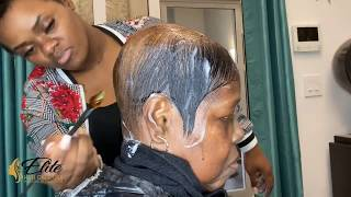 Weave on client with alopecia   Alopecia weave alternative