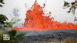 WATCH: Lava erupts from Kilauea volcano in Lower Puna Hawaii
