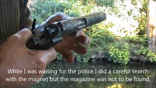 Gun found while magnet fishing near Clegg Hall