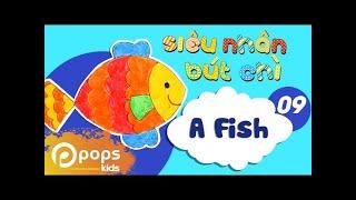 Hướng Dẫn Vẽ Con Cá  - Siêu Nhân Bút Chì - Tập 9 - How To Draw A Fish