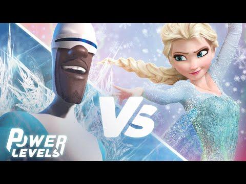 The Incredibles' Frozone vs Frozen's Elsa | Power Levels