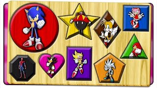 Learn Colors With Sonic Shapes | Right Or Wrong Jigsaw Puzzle Game | Kids Patrol Tv