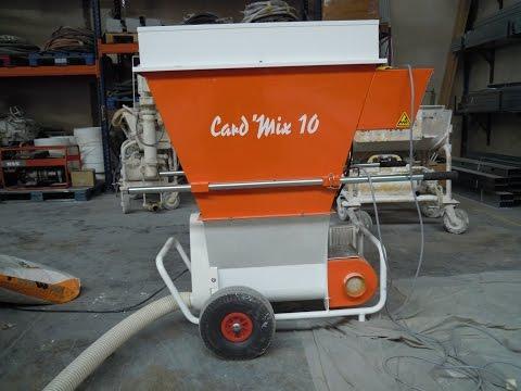 Proyección mortero lana de roca | MIXER Card Mix 10 | cevimarmaquinaria.com