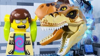 LEGO City Time Travel STOP MOTION LEGO Jurassic World: T-Rex Attack| LEGO City | By Billy Bricks