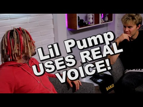Lil Pump uses REAL VOICE! exclusive interview