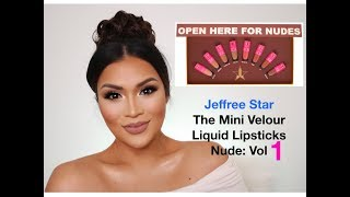 JEFFREE STAR COSMETICS Mini Velour Liquid Lipstick Nude 1 Swatches by Swatch Queen